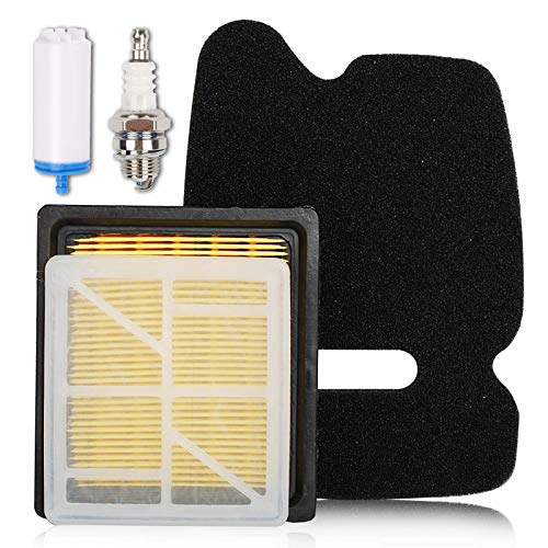 HIFROM Air Pre Inner Filter Combo Fuel Filter Spark Plug Tune Up Kit Compatible with Husq-Varna Partner Concrete Cut Off Saw Power Cutter K750 K 750 506 36 72-01 506 36 72-02