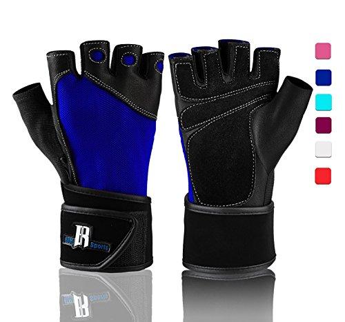 RIMSports Wrist Wrap Gloves for Men - Womens Lifting Gloves - Gym Gloves for Women Weight Lifting - Womens Workout Gloves for Weights - Mens Weight Lifting Gloves - Weightlifting Gloves Womens