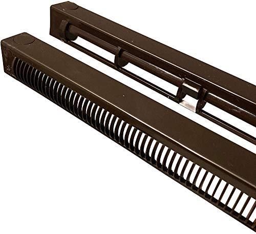 Fenster-Erhaltungsschlitz-Entlüftung, uPVC-Doppelverglasung und Holzfenster, reduziert Kondensation, Feuchtigkeit und Dampf in Fenstern, voll verstellbar (230 mm, braun)