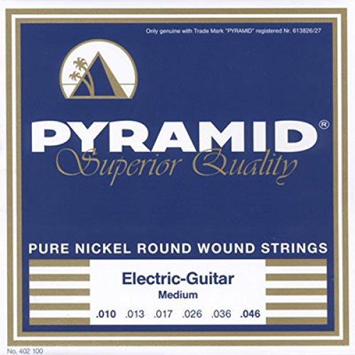 Pyramid Pure Nickel Round Wound 10-46 Medium Electric Guitar Strings