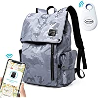 HiOrange Waterproof Daypack with Bluetooth Anti Lost Device for up to 15 inch Laptop & Tablets (Grey Camo)