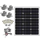 SUNER POWER 12V Waterproof Solar Battery Trickle Charger & Maintainer - 50 Watts Solar Panel Built-in Intelligent MPPT Solar...