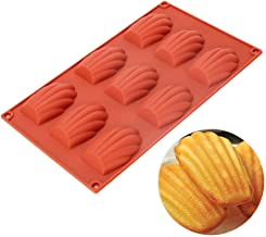 (Madeleine) - Silicone Madeleines Mould - 9 Cavities Nonstick Silicone Mould, Baking Mould, Handmade Soap Moulds, Ice Cube...