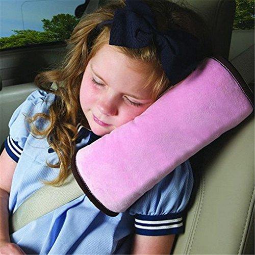 Preisvergleich Produktbild westeng Auto Kissen Auto Sicherheitsgurt des Schützen Schulter Kissen Kissen Stoßdämpfer des Fahrzeugs Anpassung des Sicherheitsgurt für Kinder von Kindern 28cm * 12cm * 6cm Rosa