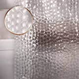 Waterproof Shower Curtain Liner EVA Thick Shower Curtain No Smell with Heavy Duty 3 Bottom Magnets, Stain Resistant Shower Liner for Shower Stall, Bathtubs, 3D Water Cube, 71 x 71,12 Hooks