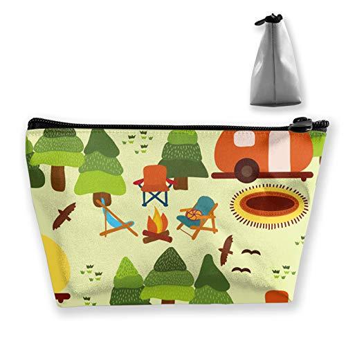 Caravana, sillas de camping, neceser de viaje, organizador de maquillaje cosmético para...
