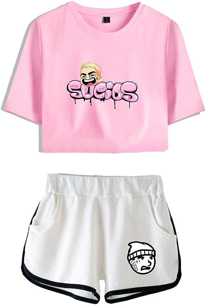 Tydres Gera MX 2 Piece Sets Hip Hop Short Sleeve Suit Womens Girl Set Casual Accessories Fashion Suit (PW-YM00720,L)