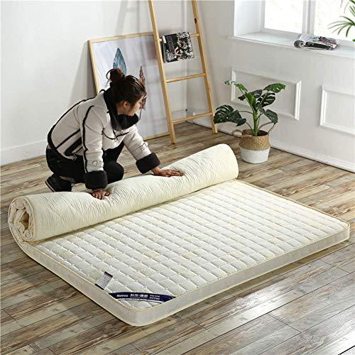 Anzkzo Sponge Mattress Thicken Memory foam Mattress Folding Double Single Floor mat Tatami mattress Student Dormitory Folding Sleeping-100x200cm(39x79inch) A
