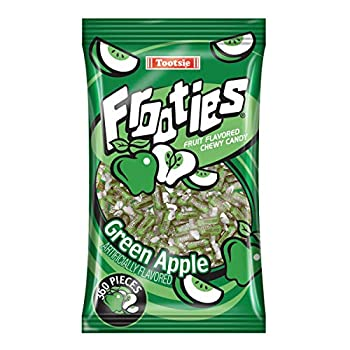 Green Apple Tootsie Roll Frooties Chewy Candy - 38.8 OZ 360-piece Bag  Gluten Free ~ Peanut Free