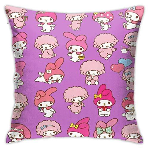 Tengyuntong Throw Square Throw Pillowcover/PillowcaseMy Melody y Kuromi Cojines para Silla Cojines para Coche Decoraciones Interiores para sofá Sofá Silla Dormitorios 18x18 Pulgadas