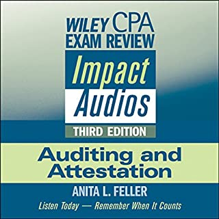 Wiley CPA Exam Review Impact Audios audiobook cover art