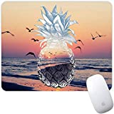 Marphe Mouse Pad Sunset Seagull Pineapple Art Mousepad Non-Slip Rubber Gaming Mouse Pad Rectangle Mouse Pads for Computers Laptop