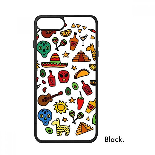 DIYthinker Schedel Gitaar Peper Voetbal Mexicaanse Cultuur Ronde Illustratie Voor iPhone 7 Cases Phonecase Apple Cover Case Gift, iPhone 7 case