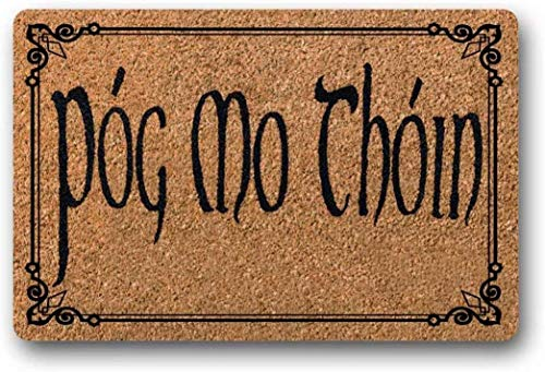 BXBCASEHOMEMAT Pog Moin Thoin Doormat, St. Patricks Day Decor, Customized Doormat, Irish Doormat, Celtic, Welcome Mat, New Homeowner Gift, St. Paddys Day 18' x 30'