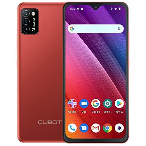 CUBOT Smartphone senza contratto, cellulare 5.5 ¨ 4G, Quad Core, Android 10, Dual SIM. Rosso