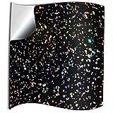 20 stück Schwarz funkelnder holografischer Brokat Silber Chrom Spiegel Glitzer Fliesenaufkleber für Küche und Bad Wandfliese Aufkleber für 15x15cm Fliesen Aufkleber Folie Farbe für Küche u. Bad