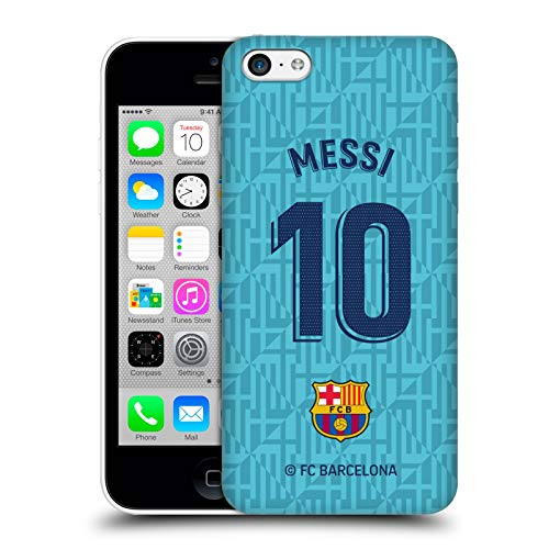 Head Case Designs Officially Licensed FC Barcelona Lionel Messi 2019/20 Players Third Kit Group 1 Hard Back Case Compatible with Apple iPhone 5c