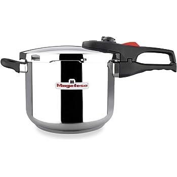 EPPMO Olla a Presión Rápida de Acero Inoxidable, 22cm 6L, Dos Presiones de Cocción, Apta para Todo Tipo de Cocinas, Incluido Inducción, Triple Sistema de Seguridad (6 litros): Amazon.es: Hogar