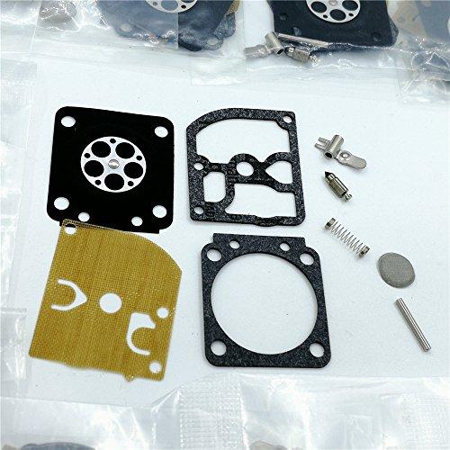 shiosheng 10Pcs/lot Carburetor Diaphragm Rebuild Kit Fit Stihl MS180 MS170 018 017 ms 180 170 Chainsaws Walbro Carb