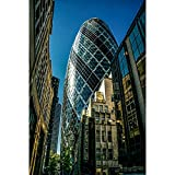 Puzzle Londres The Gherkin Jigsaw Skyscraper Series Living Room Decoration Gifts 500/1000/1500/2000 Piezas Master Challenge 0103 (Color : No partition, Size : 500 Pieces)