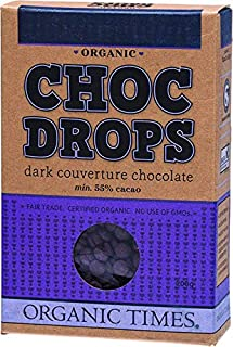 Organic Times Organic Courveture Dark Chocolate Drops Packet, 200 g
