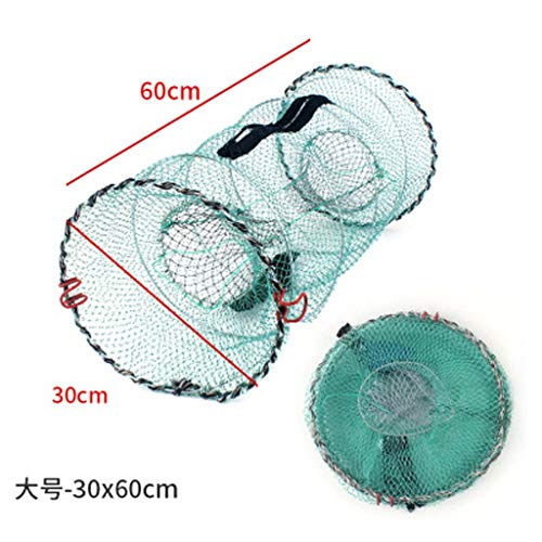 YMYGCC Fish trap Fishing Net Cage Utility Folding Fishing Net Portable Stake Small Mesh Net Durable And Corrosion Resistant 21 (Color : B)