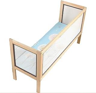 Tope Lateral para Cerca de la Cama Topes para barandas Material de Madera Maciza Barandilla para Cama para niños Diseño Simple y Moderno, Adecuado para niños Mayores de 0 años
