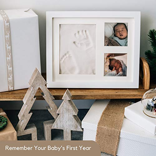 Product Image 3: Baby Handprint and Footprint Makers Kit Keepsake For Newborn Boys & Girls, Baby Girl Gifts & Baby Boy Gifts, Personalized Baby Shower Gifts, Memory Art Picture Frames for Baby Registry, Nursery Decor