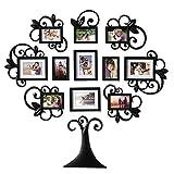 YOUQU Marcos De Fotos Multiples,Decoración De Pared para Colgar,Juego De Marcos De Fotos para 12 Fotos,(5/7 Pulgadas) Regalo Creativo De Arte Familiar En Forma De Árbol,Organizador De Fotos para Exhi