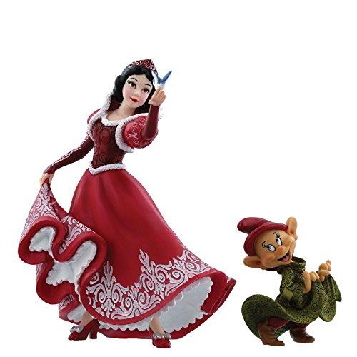 Disney Showcase Disney Showcase Christmas Snow White & Dopey Figurine, Multi-Colour