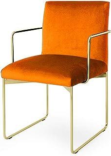 Luqifei Sillas de Comedor Pulido Las piernas de Oro del Metal contemporáneo Terciopelo Silla tapizada Comedor Cocina Comedor Muebles (Color, Size : 52x52x80cm)