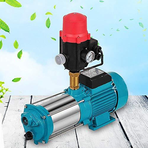 AquaLine SK02 Bomba centrífuga de jardín Jasemy, 9,8 bar, 1300 W, control de la bomba, acero inoxidable, con interruptor automático, protección de funcionamiento en seco