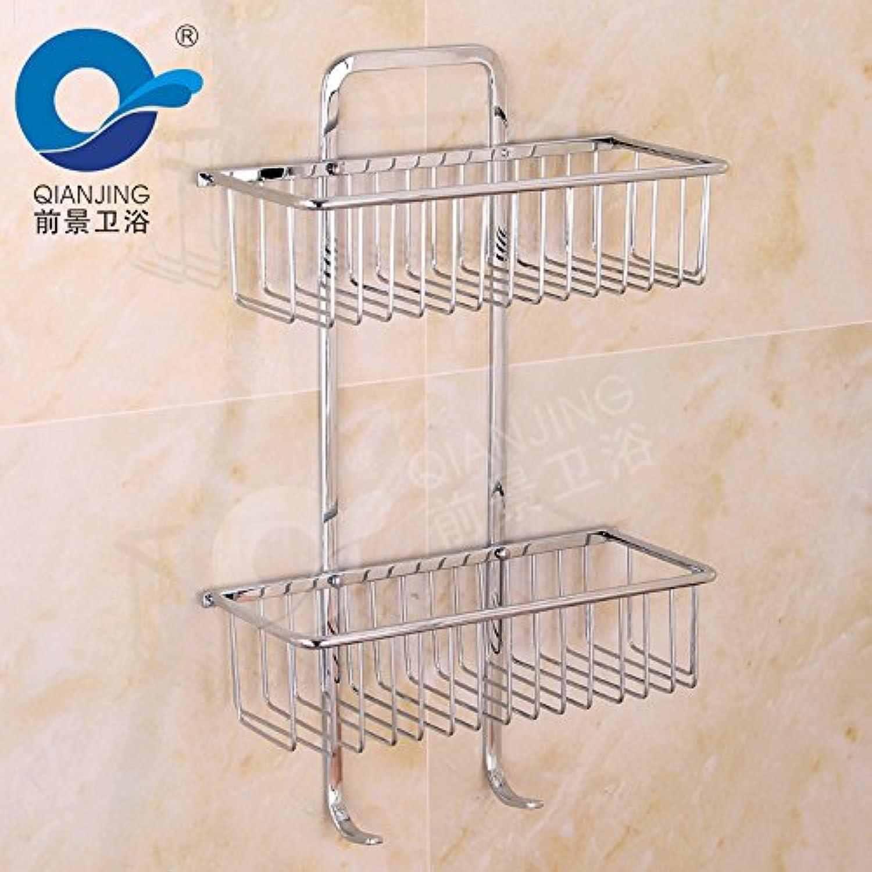 Stainless steel basket rack double bathroom shelves 300140470