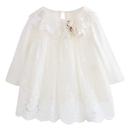 c7e36e40287 H.eternal Christening Baby Dress Girl Floral Lace Gown Princess Wedding  Dresses Baptism Birthday Tulle