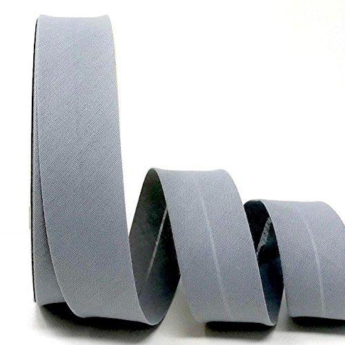 Byetsa Schrägband aus Baumwollmischgewebe, 30 mm, auf einer 25-m-Rolle, Taubengrau