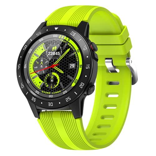 HING Hombres GPS Reloj Inteligente Tarjeta Independiente Pulsera Monitor De Ritmo Cardíaco Llamadas IP67 Compass Barómetro Altitude Deportes,C