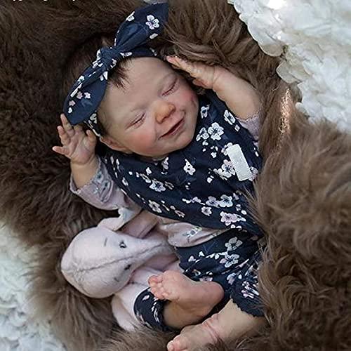 Pop jongen meisje poppen herboren peuterpoppen realistisch ogend zacht vinyl gewogen zacht stoffen lichaam, pasgeboren baby met geboortekaartje en kleding voor volwassenen,girl