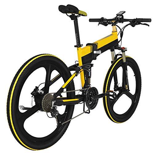 AZUNX Bicicleta de Montaña 26 X 1 95 Elektrisches Ciclomotor-Fahrrad Faltbares E-Blike-FAHR- / Elektro- / Assistenzmodus 400 W 48 V 30 Km/H