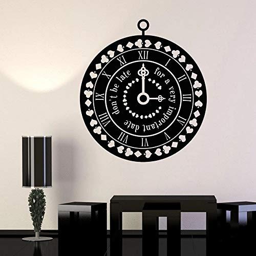 Tianpengyuanshuai muur decal klok tijd pak kaart sprookje woonkamer huisdecoratie vinyl sticker