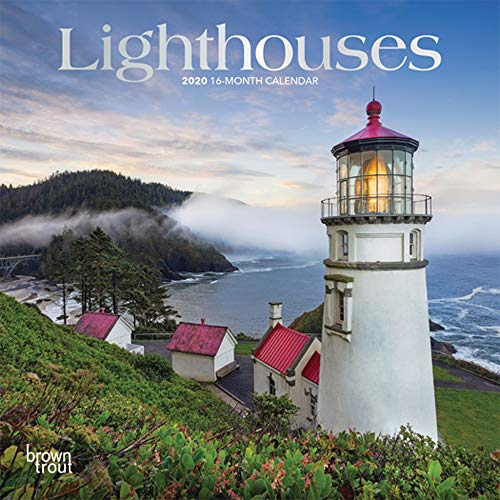 Lighthouses 2020 7 x 7 Inch Monthly Mini Wall Calendar with Foil Stamped Cover, Ocean Sea Coast (English, Spanish and French Edition)