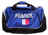 PATOUTATIS - Sac de Sport 55 L - Supporter équipe de France - marquage France et Drapeau Bleu Blanc Rouge (Bleu Roi)