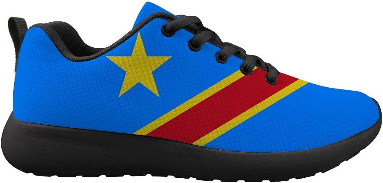 Owaheson Cushioning Sneaker Trail Running shoes Mens Womens Democratic Republic of Congo Flag