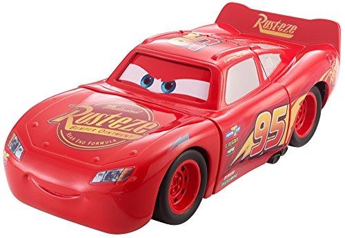 Disney Pixar Cars petite voiture Super Crash Flash McQueen, corps et yeux transformables après un choc, jouet pour enfant, DYW39