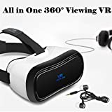 "TSANGLIGHT 3D VR Headset All in One, 360° Viewing Android 5.1 Virtual Reality Headset 5"" 1920x1080 HD Screen VR Glasses - 2GB RAM, BT 4.0, Support WiFi/HDMI/Apps (Phone No Needed, Great Gift)"