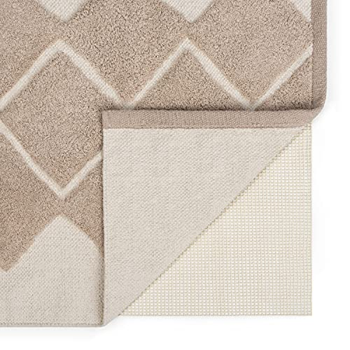 Blumtal 1er Set Antirutschmatte aus Latex - Teppich antirutschunterlage, rutschfeste unterlage aus natürlichem Material, 80x150cm, Elfenbein
