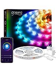 Gosund 5M Tiras LED Alexa, Luces LED 5050 RGB WiFi, Tira Led Inteligente Control Remoto por App, Sincronizar con Música, Compatible con Alexa y Google Home, Luces LED Habitación