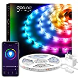 Gosund 5M Tiras LED Alexa, Luces LED RGB WiFi, Tira Led Inteligente Control Remoto por App, Sincronizar con Música, Compatible...
