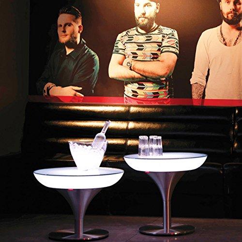 Moree Table basse Lounge M 55 Indoor, métallique/Transparent/Blanc, Aluminium/Plastique, 27–02–55