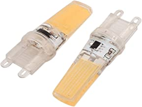 New Lon0167 2Pcs AC220V Featured 9W COB LED reliable efficacy Corn Light Bulb Silicone Lamp Dimmable G9 2508 Warm White(i...