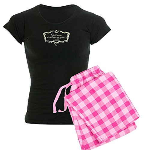 CafePress Obstinate Headstrong Girl Jane Austen Quote Womens Novelty Cotton Pajama Set, Comfortable PJ Sleepwear